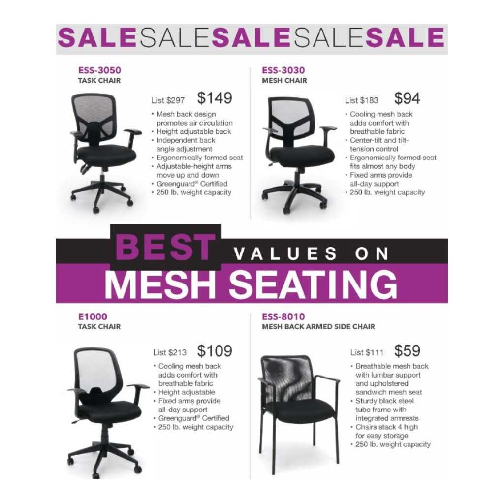 Mesh Seating Values