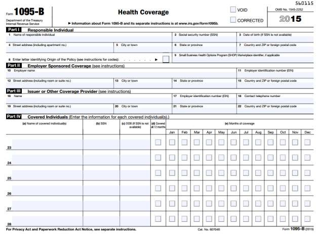 Does Your Company Need To File A Form 1095 B