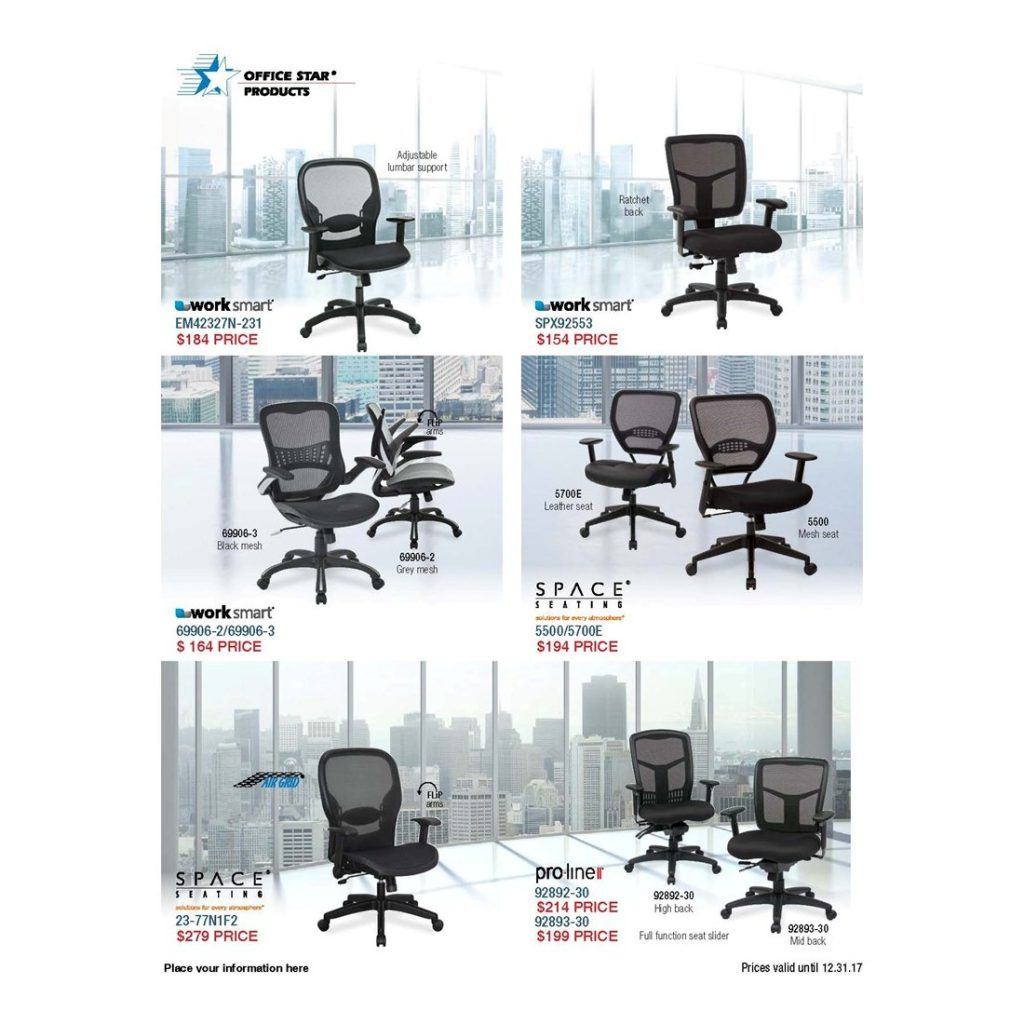 OFFICE STAR SEATING SALE