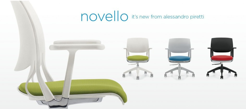 Novello Is An Innovative And Dynamic Expression Of Material Science That  Synchronizes The Seat And Back With Every Movement. Available In Ivory  Clouds, ...